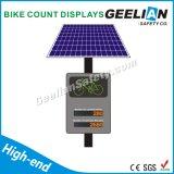Qualitäts-Fahrrad-Zählimpuls-Bildschirmanzeige mit Solar angeschalten
