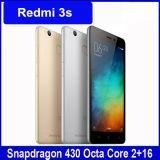 人間の特徴をもつ4G Lte Redmi 3sの可動装置安い元の新しい5.0インチのかセルまたはスマートな電話