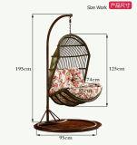 庭の家具のハングの椅子の柳細工の卵の椅子の屋外の藤の振動椅子(D013)