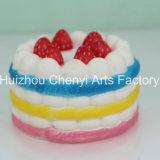 遅い反動の多彩な食糧形PUの泡のケーキ