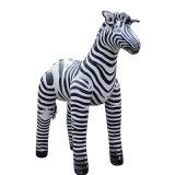中国はPVC子供のための動物の膨脹可能なシマウマのおもちゃをカスタマイズした