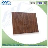 Tablero de madera de la decoración del cemento de la fibra de la textura del grano