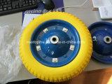 350-4 플라스틱 변죽을%s 가진 편평한 자유로운 PU 거품 바퀴
