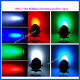 Luz de la IGUALDAD 18PCS*18W de la iluminación de la etapa del bulbo del LED