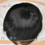 Hand gebundener volles Spitze PU-Rand-Rand-beiliegendes Menschenhaar-natürlicher Farben-Haar-StückToupee