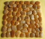 Polierkiesel-Mosaik-Stein für äußeren Bodenbelag mit multi Farbe