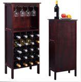 Barra di legno domestica di memoria del supporto di bottiglia del Governo del vino della cucina con la cremagliera di vetro nuova