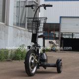 """trotinette"" elétrico Sightseeing elétrico 350W da mobilidade do veículo 3-Wheel com cesta"