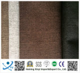 Tessuto impermeabile di tela d'imitazione 100% del sofà del poliestere resistente della piega