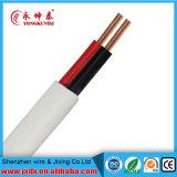 Cable de alambre eléctrico aislado PVC multifilar del doble con cobre trenzado