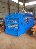 Drei Schicht-Metallfliese-Rolle, die Maschine bildet