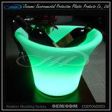 PE 물자 회전 주조 플라스틱 현대 LED 얼음 양동이
