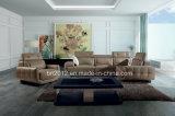 Sofá moderno do couro da parte superior da mobília (SBO-5921)