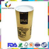 Waterproof Recyclable Cardboard Rolled Edge Round Hat Box para Pingente