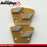 Placa de moedura concreta do Trapezoid do diamante 120# dobro
