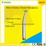Niños mini 4-Holes dental pequeño Handpieces de alta velocidad principal especialmente