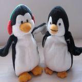 Jouet de peluche de pingouin bourré par coutume