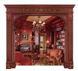 Molde de madeira de mogno contínuo do indicador do frame do montante do aro da porta da decoração Home (GSP17-007)