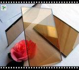 vidrio de flotador de bronce de 10m m Europa con ISO9001/Ce para el edificio