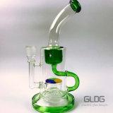 Tubo di acqua di vetro di Rececler del Borosilicate popolare di alta qualità per fumare