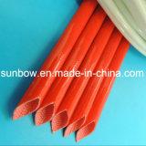 fibra de vidrio del silicón 7kv que envuelve para el aislante del harness del alambre