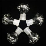 Tubo que fuma de cristal tazón de fuente masculino/femenino de 14mm/18m m para los tubos de agua