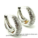 Sterlingsilber-elegante Schmucksache-Frauen-Band-Ohrringe der Form-925 (A2e016)