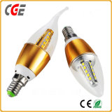 Lampadina della candela di E14 LED con 3W, 4W, 5W, 6W