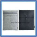 Ein gesetzter fördernder Wolle-Filz-Laptop-Hülsen-Beutel mit Riss-Widerstand Du Pont/Tyvek Papierbeutel-Verpackung (Wolleinhalt ist 70%)
