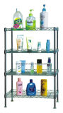 Square Chrome Metal Wire Bathroom Shelf Rack, DIY e estilo K / D (CJ-C1037)