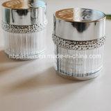 粒子のリング(PPC-NEW-101)が付いている50g光沢のある銀製のアクリルの装飾的な瓶