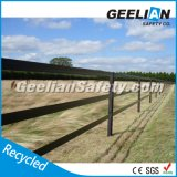 Загородка лошади высокия уровня безопасности Австралии & Новой Зеландии, загородка поля, загородка PVC, винил ограждая, относящая к окружающей среде рециркулированная пластичная загородка