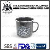 転送された縁のカスタムロゴの印刷の茶コーヒーエナメルのマグ、ステンレス鋼の縁の鋳鉄のミルクのキャンプのエナメルのマグ; 金属の炭素鋼の隼のエナメルのコップ、Enamelware