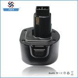 reemplazo de la batería recargable de 9.6V 3.0ah Ni-MH para Dewalt Dew-9.6