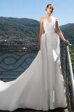 Le dessus de Meri tend les robes de mariage détachables de satin