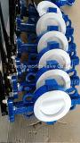 Split клапан-бабочка вафли подкладки тела PTFE с CE&ISO