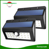 Im Freienbeleuchtung imprägniern 20 Bewegungs-Fühler-Licht LED-PIR, Light-Control+Dim helles im Freiengarten-Licht-Solarwand-Lampe