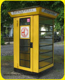 Cabine de telefone inglesa vermelha personalizada do metal da venda 2017 profissional quente