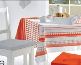 Tablecloth impresso PVC com revestimento protetor 40g não tecido (TJ0002)