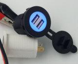 12V se doblan las piezas de automóvil Ds2016r del divisor del socket del alumbrador del cigarrillo del coche del enchufe del adaptador de la potencia del cargador del USB