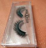 Pestañas falsas del pelo natural de múltiples capas atractivo de los latigazos 3D