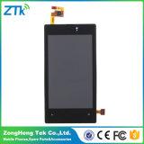 Черная индикация LCD для экрана касания Nokia Lumia 520
