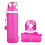 BPA liberano la bottiglia di acqua pieghevole leggera del silicone 26 once