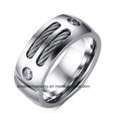 Monili superiori dell'anello di ceramica d'acciaio di modo per gli uomini