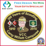 Emblema de remendo de bordado de lembrança de aniversário de 100 anos para promoção