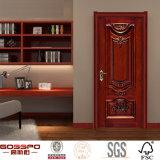 Porte d'entrée intérieure principale d'avant en bois solide de Chambre (GSP2-75)