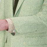 Giacca sportiva verde chiaro di modo superiore per gli uomini