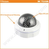 Тип камера купола IP с камерой 720p 1.0MP CCTV расстояния иК 30m с FCC RoHS Ce