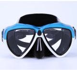 Máscara adulta do mergulho do silicone de três cores