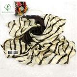 Striped шарфы шали повелительницы Способа Сатинировки Шелка Шарфа печатание